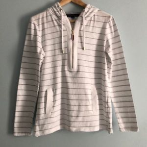 Tommy Hilfiger Hooded Striped Top with Pockets